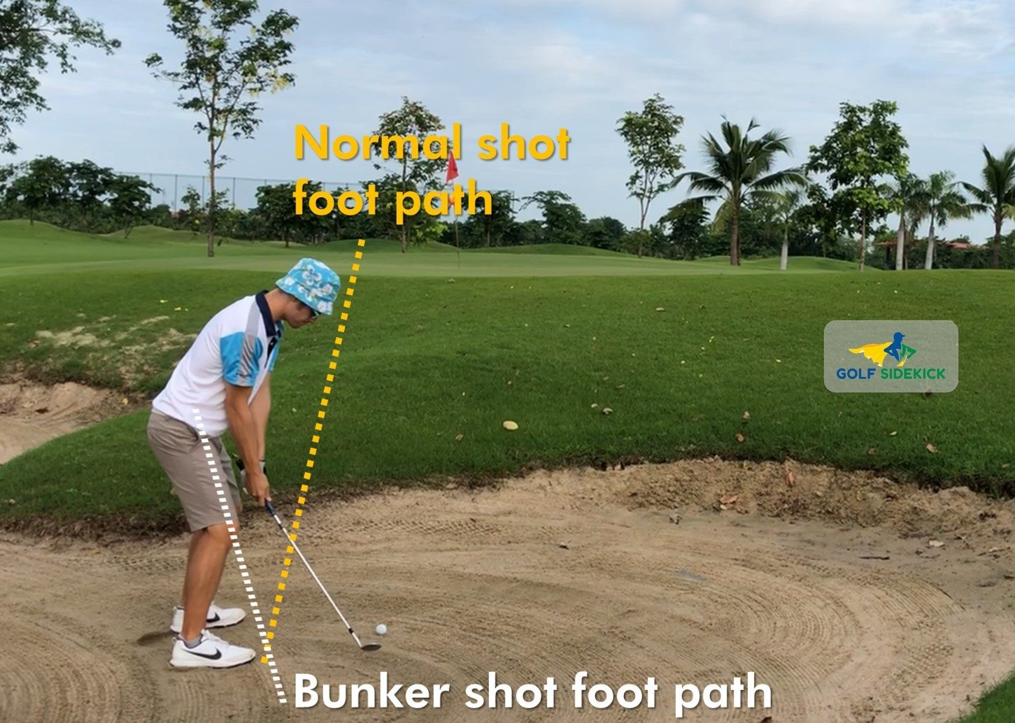 how to hit bunker shots
