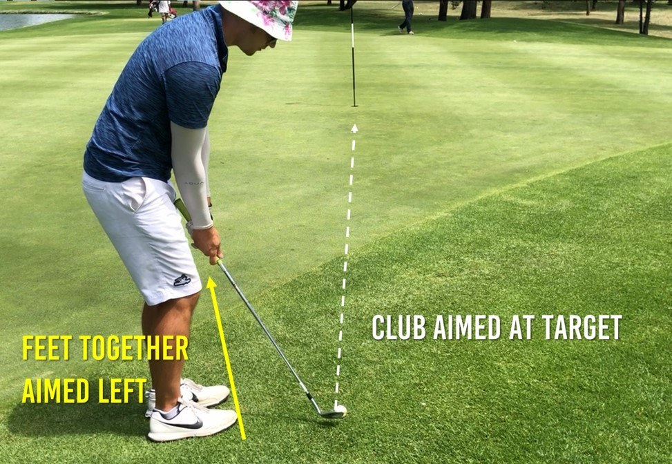 how to chip ball position